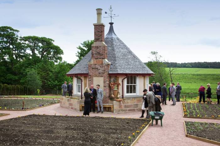 The finished 'Summer House'. A project Samuel and the other Prince's Foundation Scholars undertook during their Scholarship