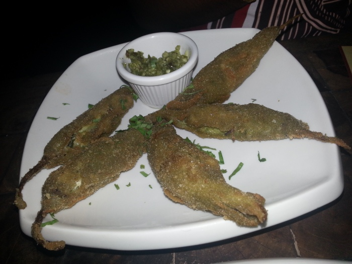 Chicken Hirvi Mirchi (Green Chilli Stuffed with minced Chicken)