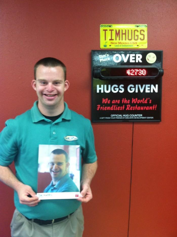 Hug Counter at Tim's Place