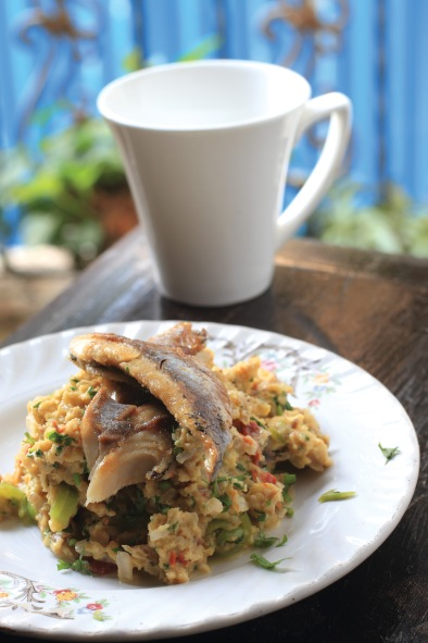 Smoked Kippers with Scrambled Eggs