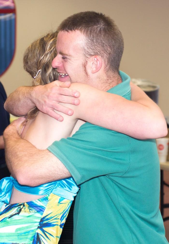 Tim's infamous hug