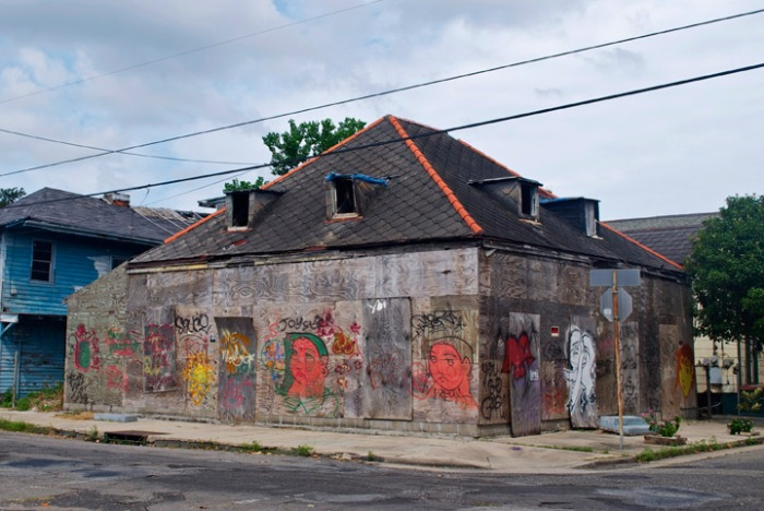 The abandoned house in Candy's neighborhood in New Orleans