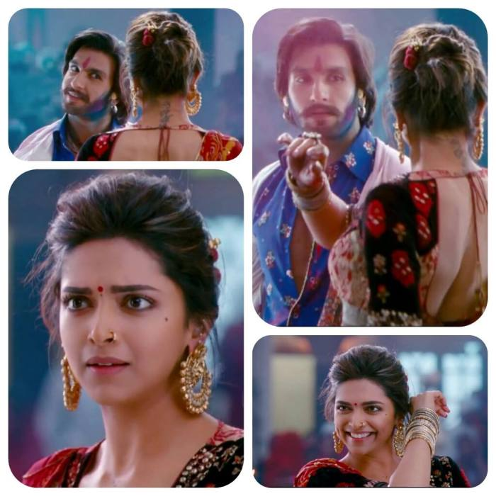 Teenage lovers, Ram and Leela. This is the movie still where Ram and Leela meet and share their first impromptu kiss.