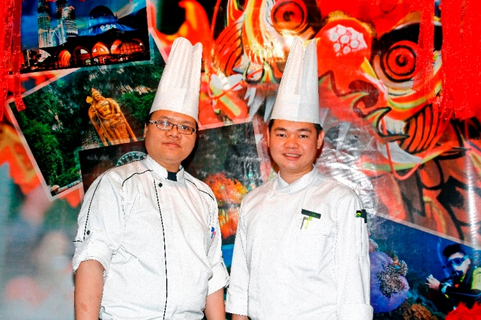 Chef Ridzuan and Chef Rhap hosting the Malaysian Food Festival in Lake View Cafe