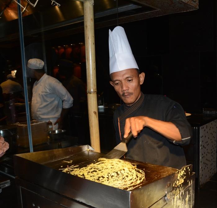 Chef Borhan Senin making a Roti Jala