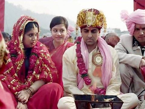 Prem & Sandhya (Debutant Bhumi Pednekar) in Dum Laga Ke Haisha