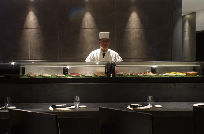 Chef Masato Toida at Ruka's Sushi Bar