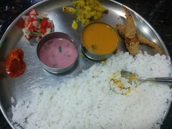 Fish Thali at Goa Bhavan