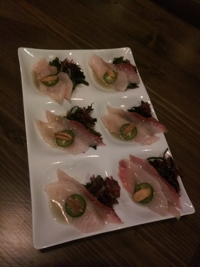 Yellowtail Carpacchio/Hamachi Carpaccio