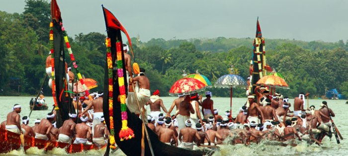 Boat Race (Vallam Kali) during Onam. The race of Chundan Vallam (snake boat) is the major event. Hence Vallam Kali is also known as the Snake Boat Race and is a major tourist attraction.