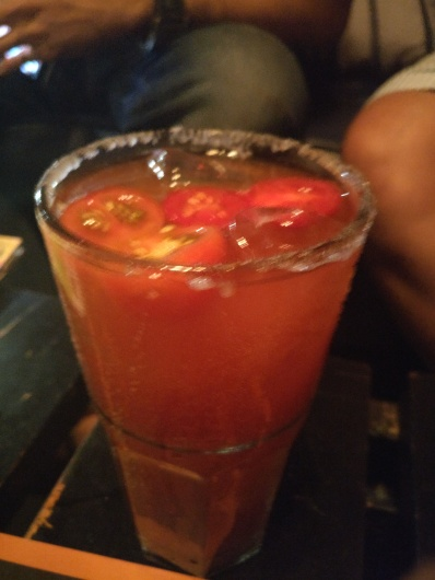 Michelada - a spicy beer cocktail with tomato juice