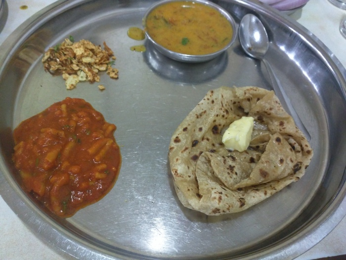 Sev Tamatar with Butter Special at Bhagat Tarachand