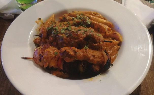 Penne Makhani with Chicken Tikka at Ambrosia Cafe and Deli, Marol