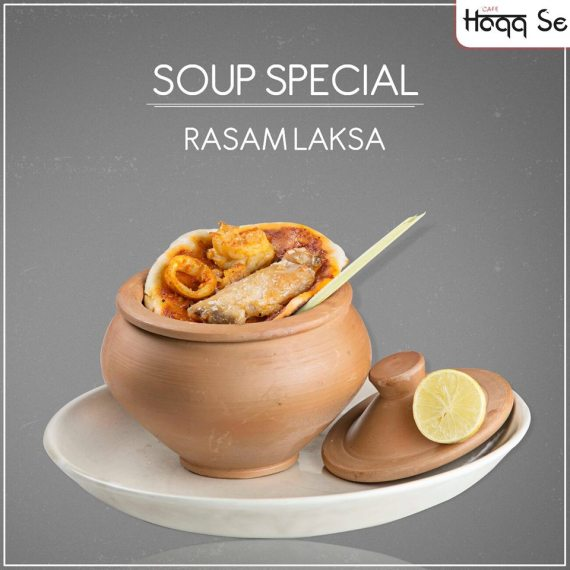 Rasam Laksa at Cafe Haqq Se, Lower Parel